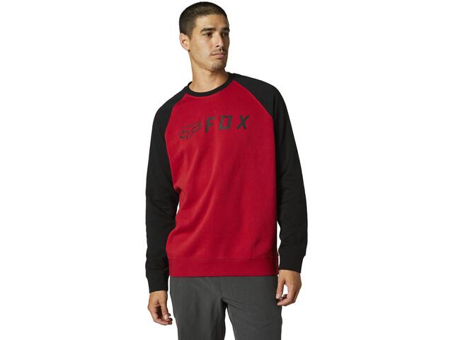 Fox Apex Suéter Polar Cuello Redondo Hombre, black/red